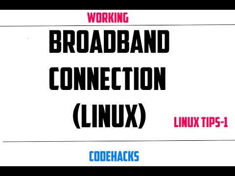 (Working)How to setup broadband Connection in Ubuntu, Kali Linux, Linux Mint