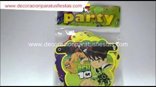 Guirnalda para decoración infantil de cumpleaños de ben 10