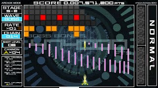 Space Invaders Extreme(PC) : EXTRA COURSE / 初回プレイ(AllClear)