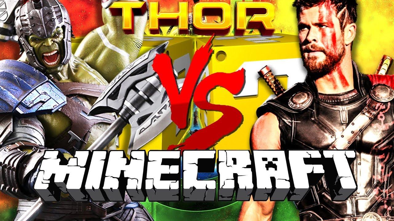 Minecraft: THOR RAGNAROK LUCKY BLOCK CHALLENGE | BUILD A SUPERHERO WORKSHOP[