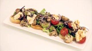 Тёплый салат с Адыгейским сыром