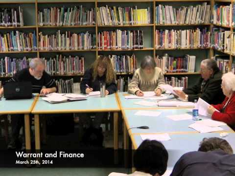 Warrant and Finance - 03-25-2014