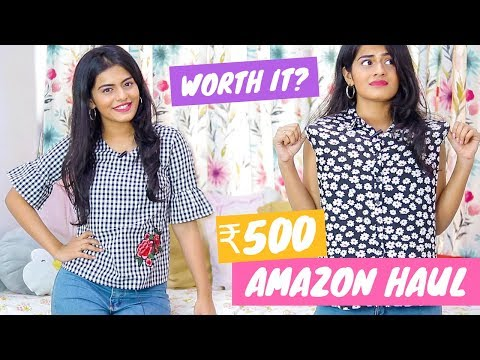 Trying Out 10 Tops Under ₹500 From Amazon   Dhwani Bhatt
