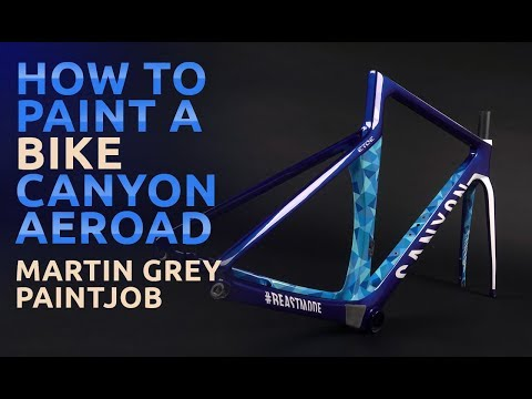 How to paint a bike - Canyon Aeroad with ETOE design painted by Martin Grey