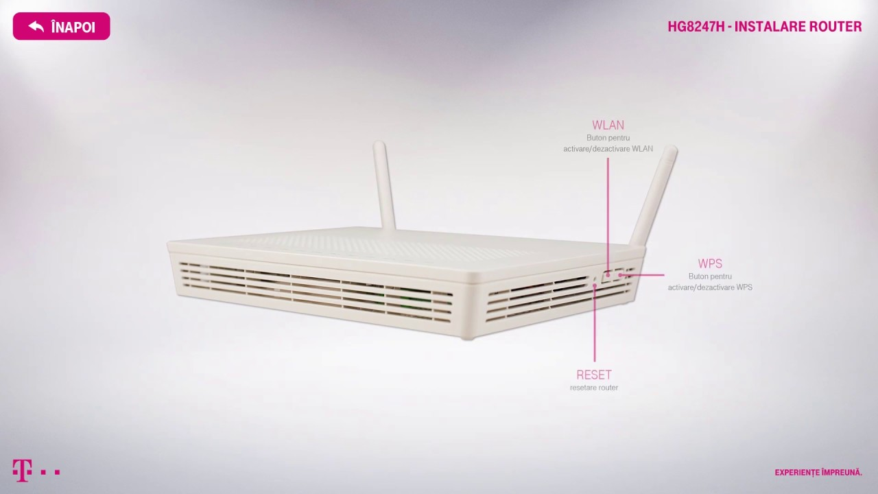 Instalare Router Huawei HG8247H
