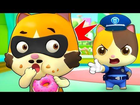 Johny Johny Yes Papa Kitten Police  Learn Numbers  Nursery Rhymes  Kids Songs  BabyBus