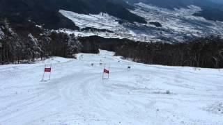 2013みどり会スキー大会 大回転にクロスカントリーの板で参戦してゼッケン 382