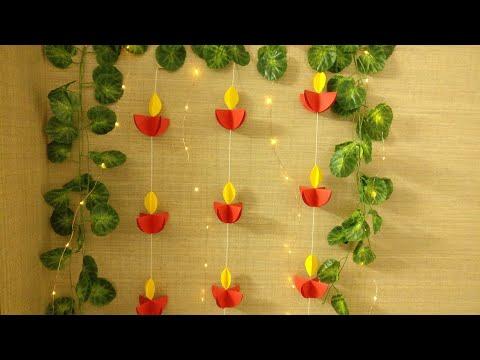 Paper Diya Wall Hanging | DIY | Paper Craft | Diwali Decoration | diwali Decoration Ideas