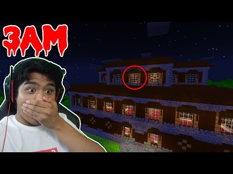 DO NOT GO TO THE WOODLAND MANSION AT 3AM!!! (Minecraft Pocket Edition Roleplay)