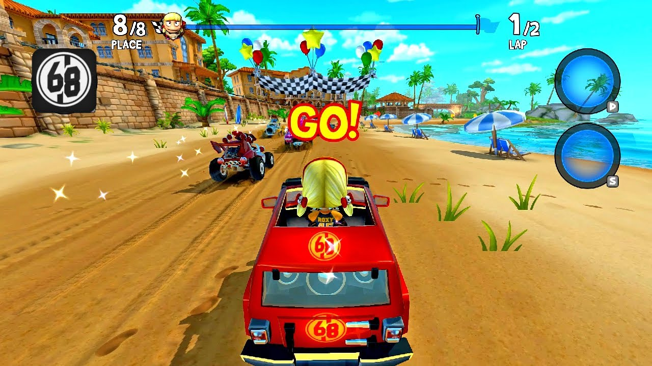 68 Number Decal In Big Dog Roxie Roller | Beach Buggy Racing 2 island Adventure
