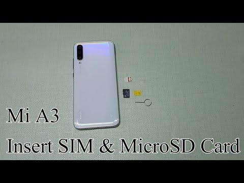 How To Insert Sim Card And MicroSD Card In Xiaomi Mi A3