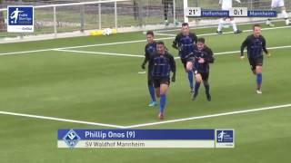 B-Junioren - TSG 1899 Hoffenheim 2 vs. SV Waldhof Mannheim 0-1 - Phillip Onos