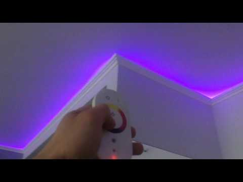 Светодиодная RGB лента под натяжным потолком