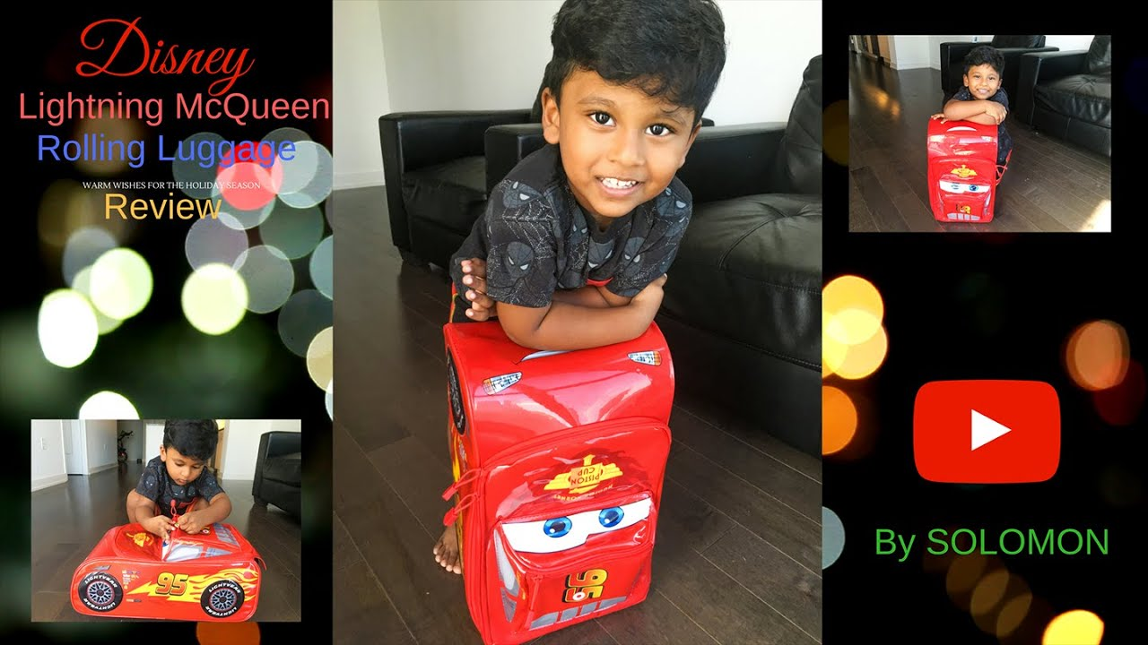 Lightning Mcqueen Rolling Luggage