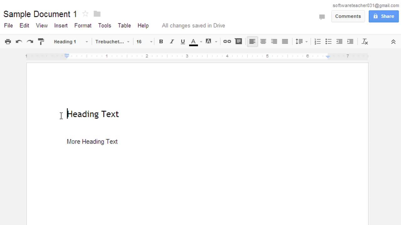 how to make title page on google docs