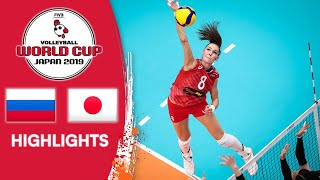 RUSSIA vs. JAPAN - Highlights | Women's Volleyball World Cup 2019