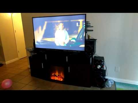 """Walmart, target. Fireplace TV stand for TVs up to 70"""""""