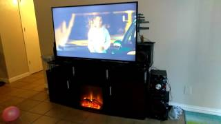 Walmart, target..Carson Fireplace TV stand for TVs up to 70
