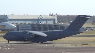 RAF Royal Air Force C-17 Globemaster ||| ZZ178 Landing and Takeoff at Schiphol (DutchPlaneSpotter)