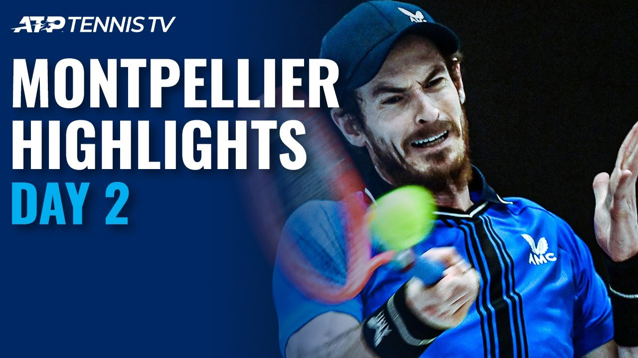 Murray and Pouille Make 2021 Tour Debuts; Simon Faces Novak | Montpellier 2021 Highlights Day 2