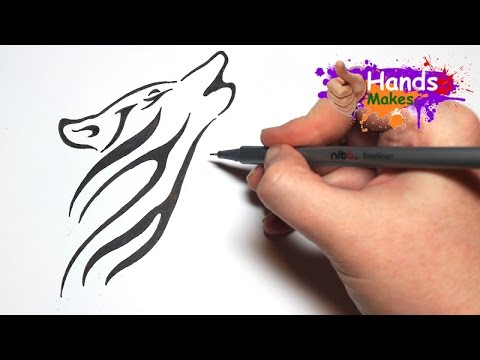 Easy how to draw a tattoo style tribal wolf head youtube easy how to draw a tattoo style tribal wolf head ccuart Choice Image