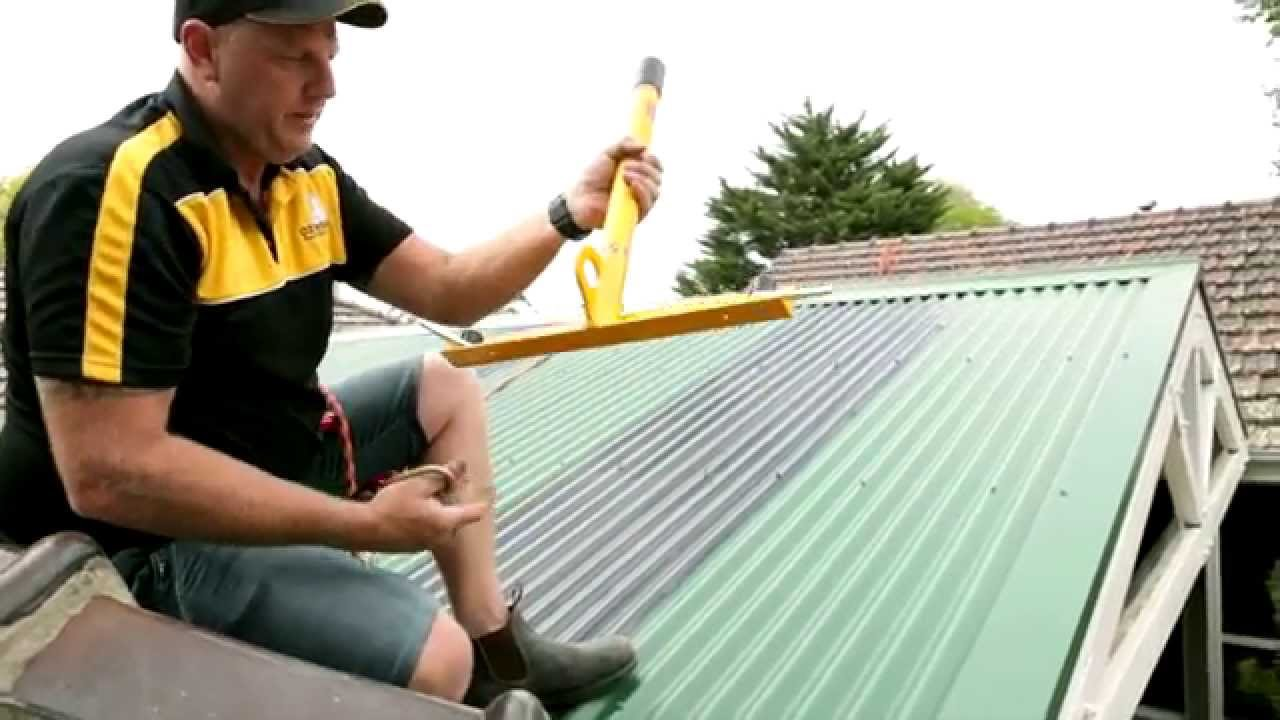 OzWide Gutter Cleaning   Metal Roof Safety