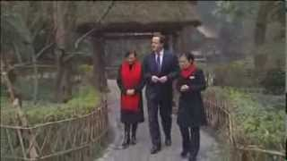 David Cameron Drinks Tea in China