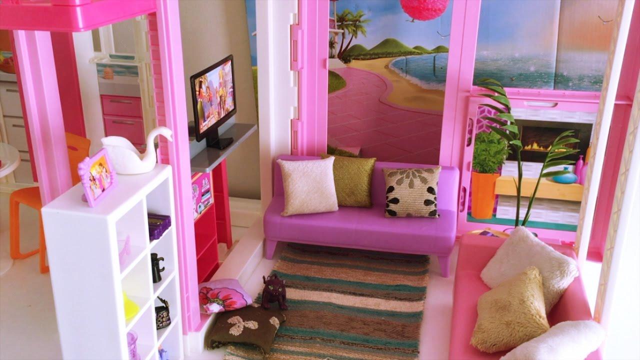 Decoraci n de la casa mansi n de lujo de barbie casa de mu ecas youtube - Decoracion de casas de munecas ...