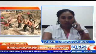 Reanudan búsqueda en Guatemala: ya son 31 los muertos por alud de tierra