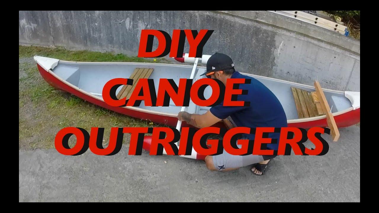 DIY Canoe Outrigger/stabilizers Homemade