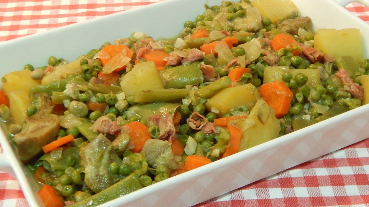 Receta f cil de menestra de verduras youtube - Menestra de verduras en texturas ...