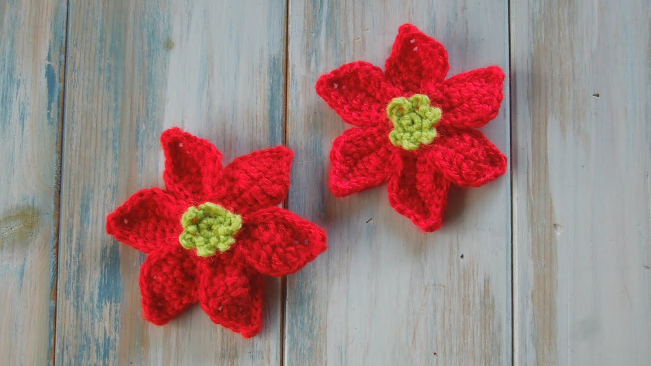 Crochet How To Crochet A Mini Poinsettia Yarn Scrap Friday Youtube