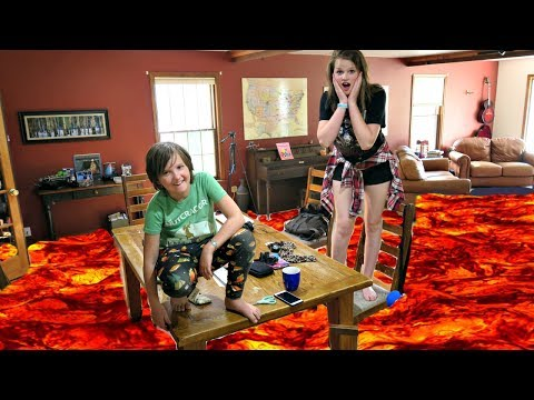 THE FUNNIEST FLOOR IS LAVA CHALLENGE! EVERY ROOM IN THE HOUS