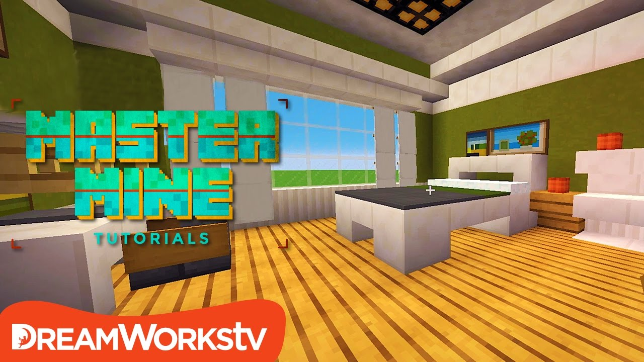 How To Make The Perfect Bedroom In Minecraft Master Mine Tutorials Kidztube