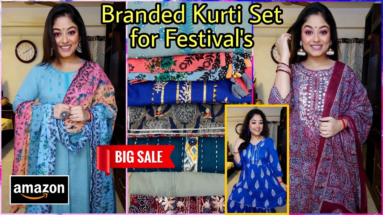 💜Amazon Kurti Haul💜Branded Kurtis for Festival💜Best Quality Kurtis /Suit Sets💜Kurti Haul💜Vaishali