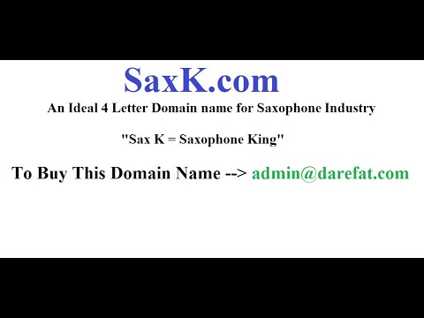 4 Letter Domain Names for Sale - SaxK.com