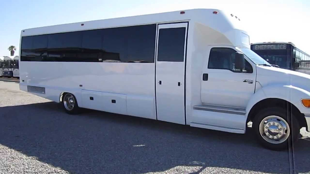 used luxury bus 2008 ford f650 tiffany for 32 passengers with rear luggage compartment s40756 youtube [ 1280 x 720 Pixel ]