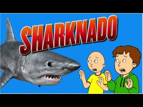 Caillou saves His dad from the Sharknado/Ungrounded