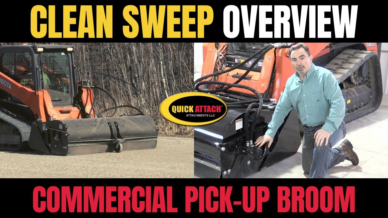 Quick Attach 174 Clean Sweep Pick Up Broom Sweeper Amp Water