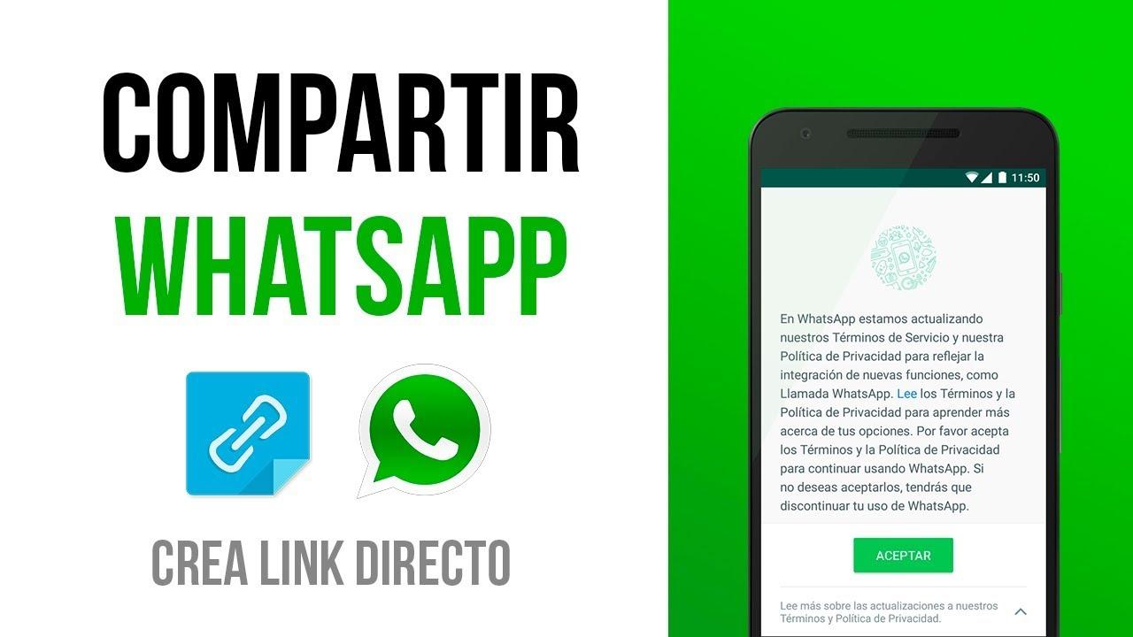 como crear un link de whatsapp
