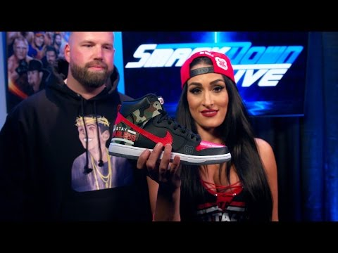 Nikki Bella's unveils her custom-made WrestleMania sneakers: Exclusive, March 21, 2017 thumbnail