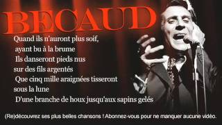 Gilbert Bécaud - La ballade des baladins - Paroles (Lyrics)