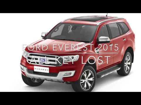 Ford Everest 2015 all key lost, Program by Key Master DP