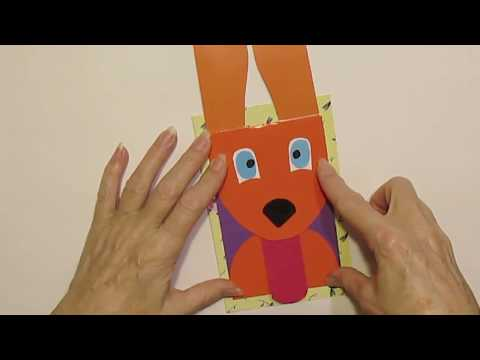 Как сделать на открытке двигающуюся руку