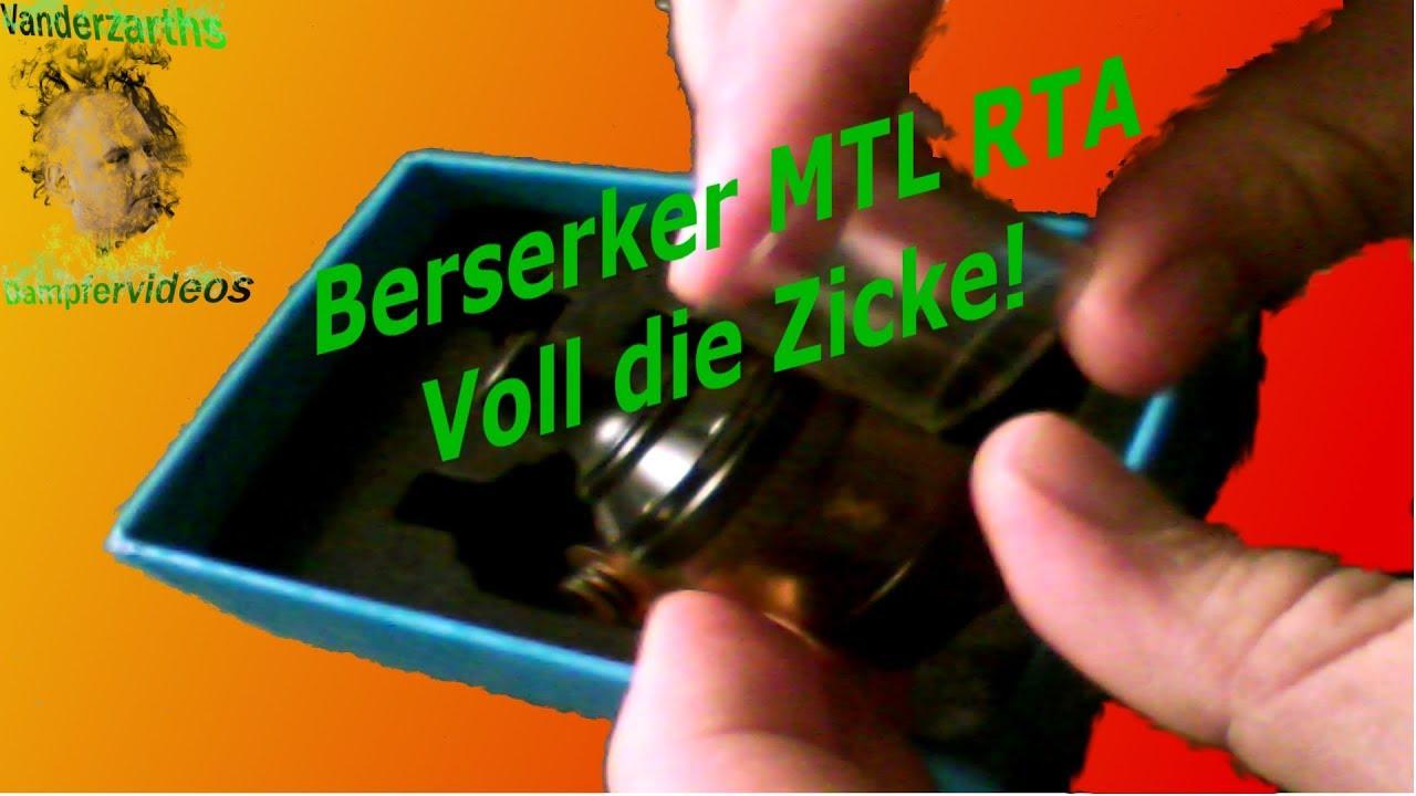 Der Berserker MTL RTA von Vandyvape: Keine Liebe für die Zicke ...