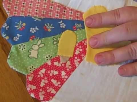 Sun Bonnet Sue Dresden Plate Dish Towel