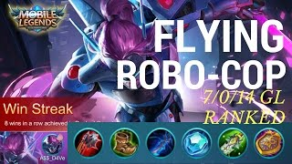 Flying ROBO-COP? Mobile Legends Saber Insane Glorious Legend Ranked Gameplay with Commentary