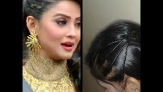 adaa khan hair style in nagin twisted hair style at home
