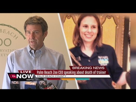 Palm Beach Zoo CEO Andrew Aiken speaks about the death of zookeeper Stacey Konwiser in a fatal tiger