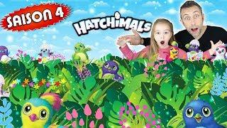 Gambar cover MEGA éclosion d'oeufs HATCHIMALS saison 4 avec Playset lumineux ! Bonus Hatchimals de NOEL !!!